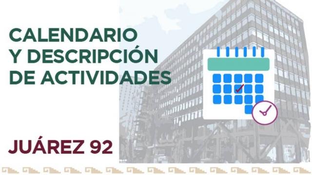 Calendario de Actividades Juárez 92